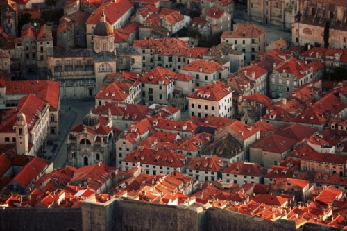 Dubrovnik rooftops from above