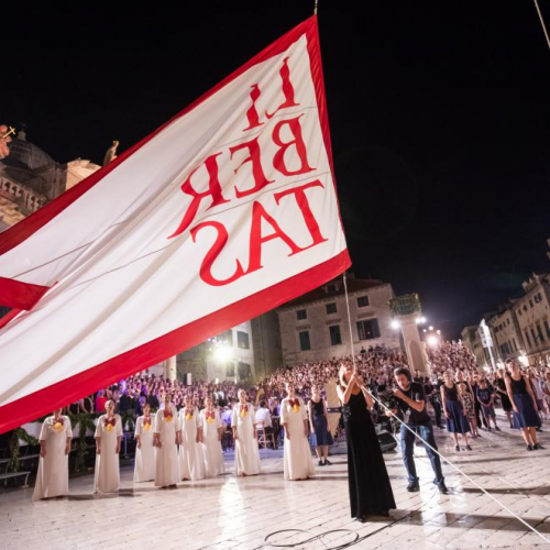 part of the opening ceremony of the Dubrovnik Summer Festival