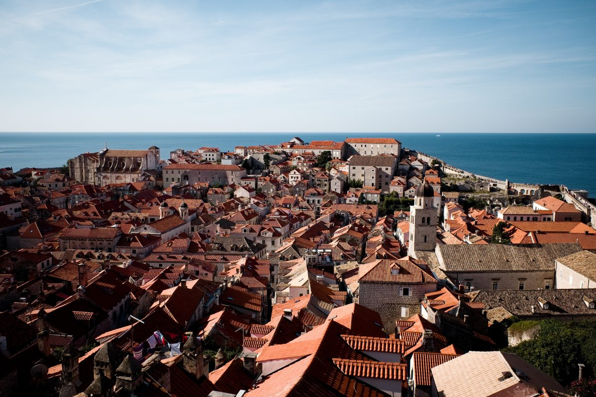 panorama of Dubrovnik rooftops
